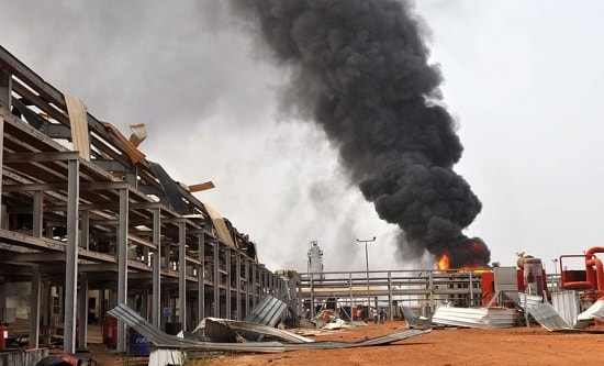 Sudan oil fire min