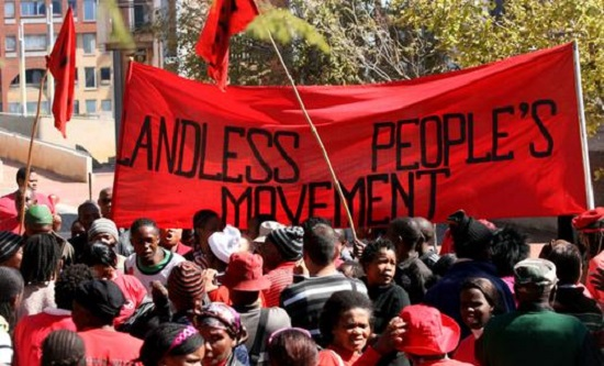 Protest by Abihlali baseMjondolo, South Africa's largest shack-dwellers organisation