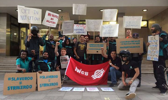 Deliveroo drivers strike