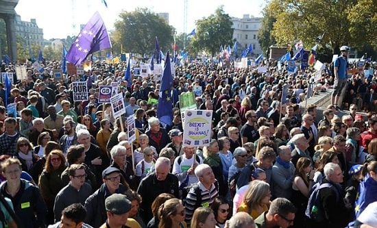 100,000s march for a people's vote in London, March 2019