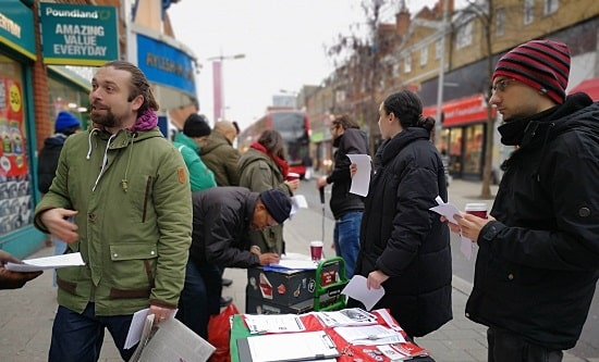 RCG street stall against Universal Credit
