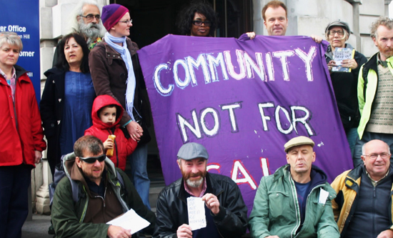 Activists campaign against evictions by Lambeth council