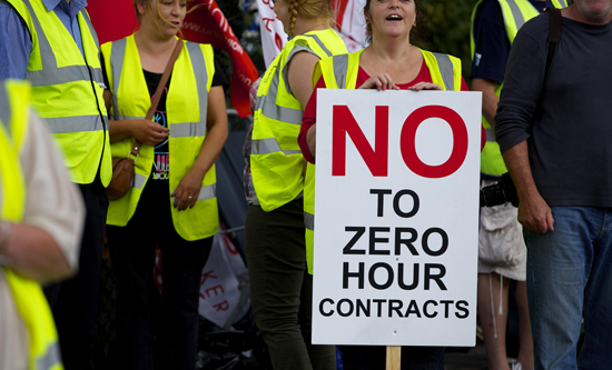 no to zero hour contracs