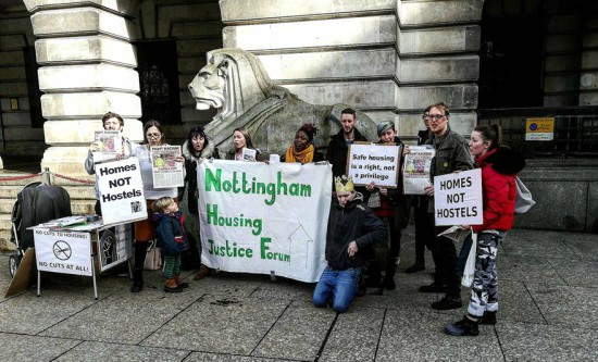 Nottingham Housing Justice Forum protesters