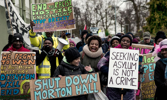 shut down morton hall demonstration 20 january 2018