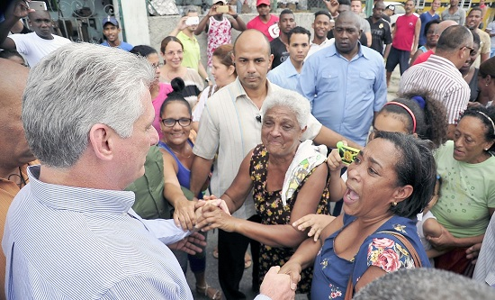 President Diaz-Canel meets with voters