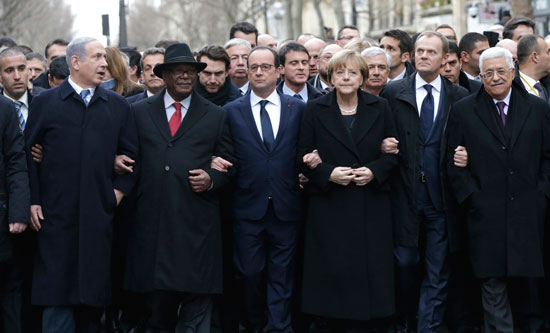 World leaders flocked to Paris to support 'freedom of expression'
