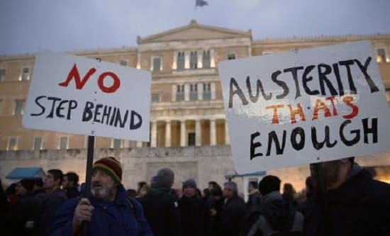 Protest against austerity in Greece, 2015