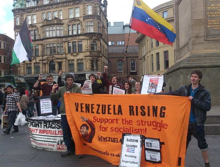 Newcastle action in solidarity with Venezuela