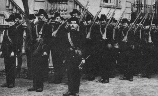 The Irish Citizen Army, led by James Connolly, was the first workers' militia in Europe