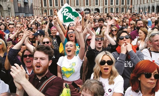 Women rally in Ireland for a repeal of the 8th Amendment
