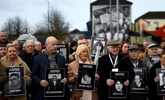 Families of the victims of the Bloody Sunday massacre