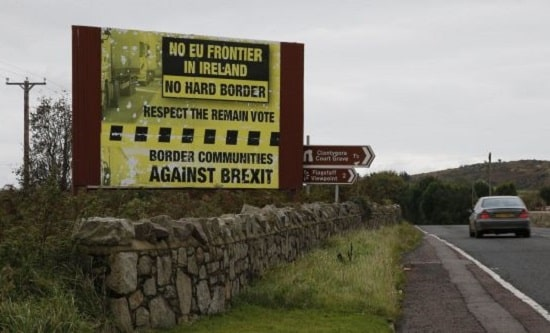 Border Communities Against Brexit billboard