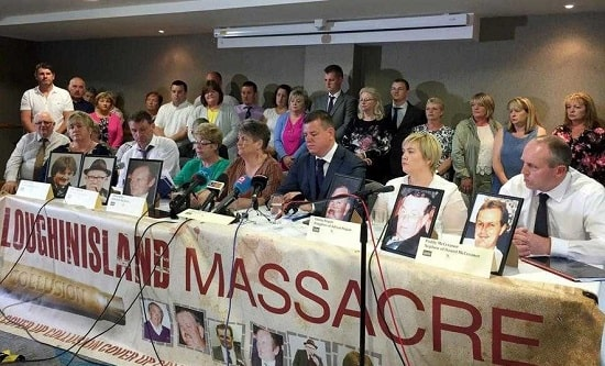 Families of the victims of the Loughinisland massacre
