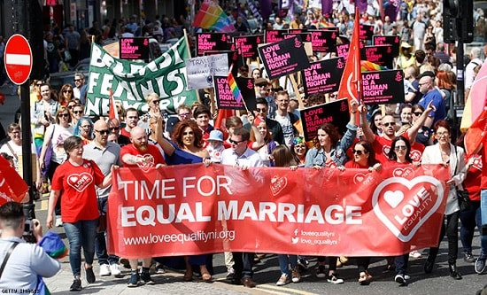 Demonstration for marriage equality, Belfast