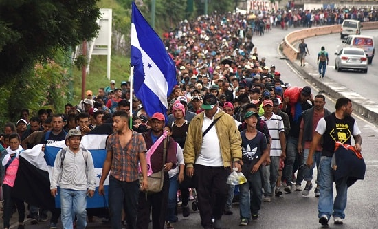 The migrant caravan is made up of people fleeing violence and poverty created by US imperialism