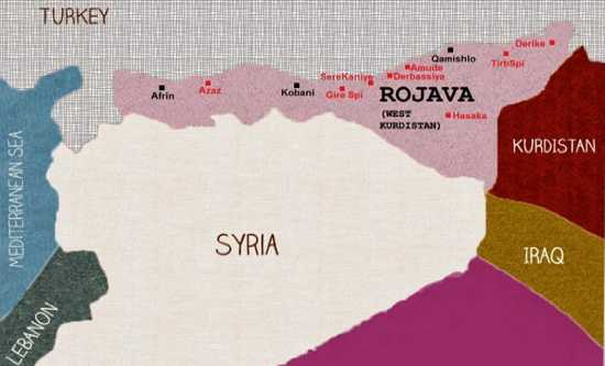 Rojava map fit
