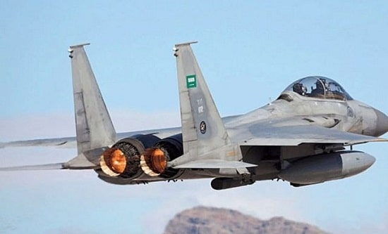 A US-made F-15 fighter jet flown by the Royal Saudi Air Force