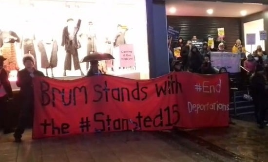 Protest against the criminalisation of the Stansted 15