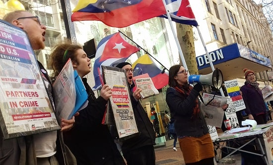 Birmingham RCG demonstrate in solidarity with Venezuela
