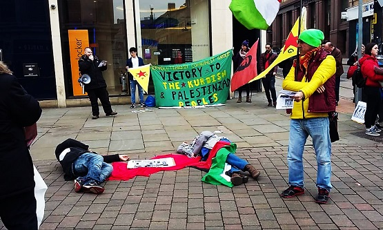 Victory to the Palestinian and Kurdish liberation struggles! Report from Nottingham