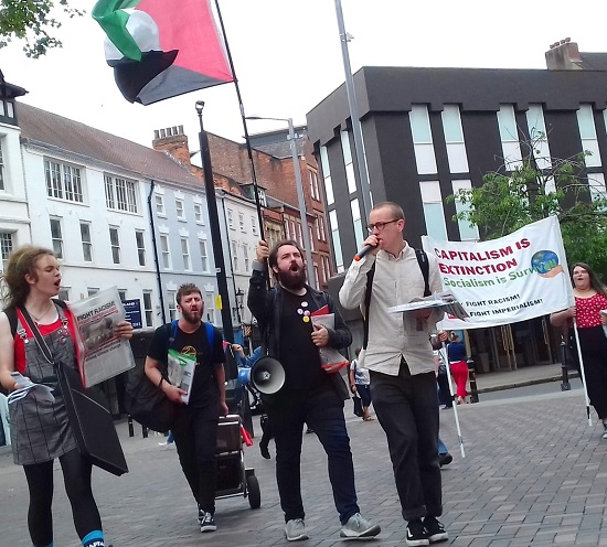 Nottingham RCG rolling picket of climate wrecking companies, 1 June 2019