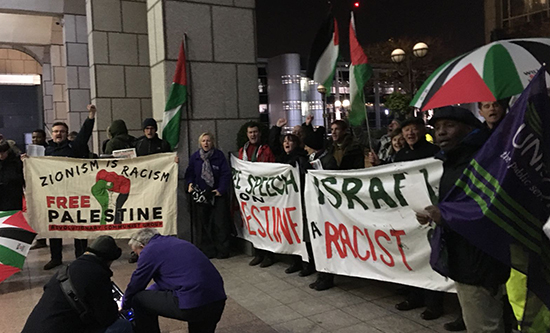 Fighting to defend free speech on Palestine in London