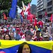 Thousands of Venezuelans rally at the Milaflores Palace in support of their government, 30 April
