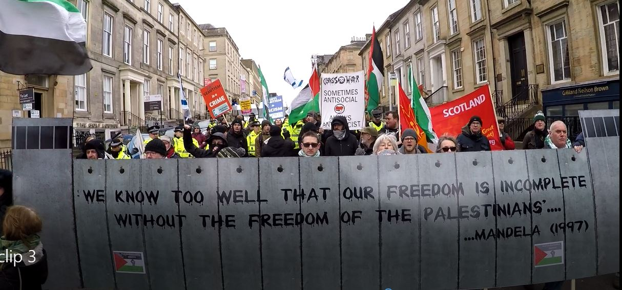 Glasgow Stand up to Racism march: the Zionists could not pass!