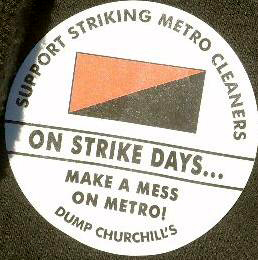 Metro Cleaners Strike in Newcastle June 2012 - Report and Interview