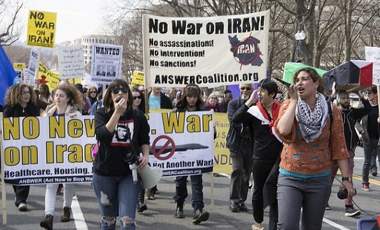 ANSWER coalition protest against US aggression towards Iran