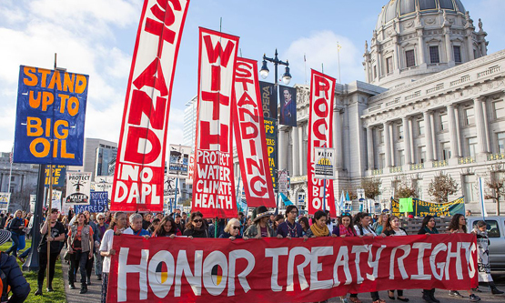 Standing Rock solidarity march in San Francisco November 2016