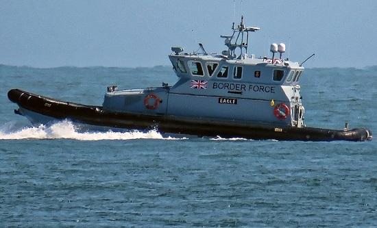 UK Border Force patrol boat HMCPV Eagle