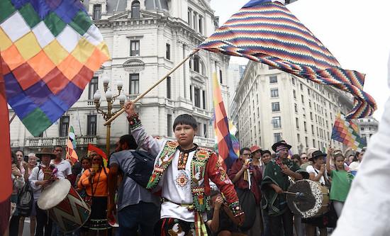 Rally for Evo Morales, Buenos Aires November 2019